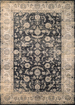 "Couristan ZAHARA Black 5'3"" X 7'6"" Area Rug 11420427053076T 807-128810"