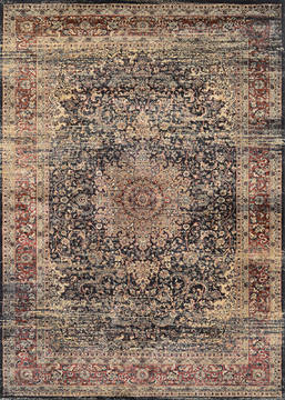 "Couristan ZAHARA Black Runner 2'7"" X 7'10"" Area Rug 04390330027710U 807-128814"