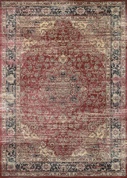 "Couristan ZAHARA Red Runner 2'7"" X 7'10"" Area Rug 04280280027710U 807-128826"