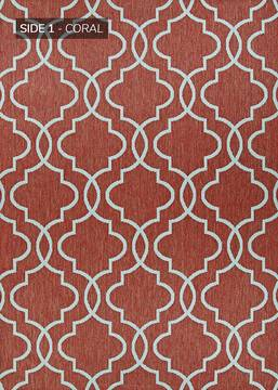 "Couristan OUTDURABLE Red 8'6"" X 13'0"" Area Rug R202CRDN086130T 807-129135"
