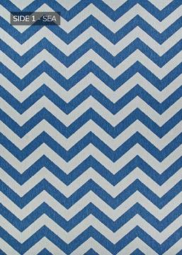 "Couristan OUTDURABLE Blue Runner 2'3"" X 11'9"" Area Rug R202SEDN023119U 807-129137"