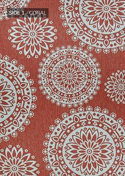 "Couristan OUTDURABLE Red Runner 2'3"" X 11'9"" Area Rug R209CRDN023119U 807-129158"