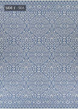 "Couristan OUTDURABLE Blue Runner 2'3"" X 11'9"" Area Rug R209SEDN023119U 807-129166"