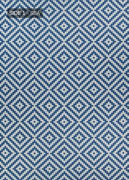 "Couristan OUTDURABLE Blue Runner 2'3"" X 11'9"" Area Rug R205SEDN023119U 807-129174"