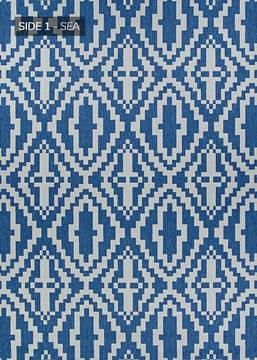 "Couristan OUTDURABLE Blue Runner 2'3"" X 11'9"" Area Rug R201SEDN023119U 807-129181"