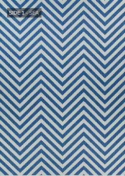 "Couristan OUTDURABLE Blue Runner 2'3"" X 11'9"" Area Rug R203SEDN023119U 807-129189"