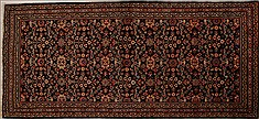 Persian Mahal Blue Runner 10 to 12 ft Wool Carpet 13101