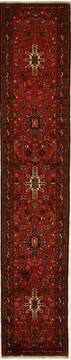 Persian Karajeh Red Runner 13 to 15 ft Wool Carpet 13105