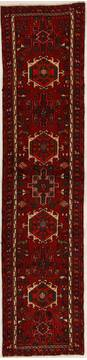Persian Karajeh Red Runner 6 to 9 ft Wool Carpet 13107