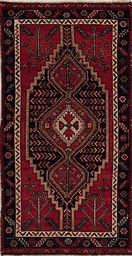 Persian Hamedan Red Rectangle 6x9 ft Wool Carpet 13122