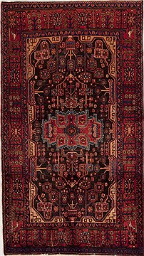 Persian Mussel Multicolor Rectangle 6x9 ft Wool Carpet 13131