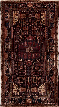 Persian Hamedan Multicolor Rectangle 7x10 ft Wool Carpet 13133