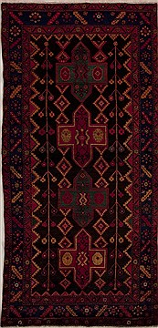 Persian Mussel Multicolor Runner 10 to 12 ft Wool Carpet 13143