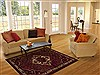 Hamedan Red Hand Knotted 53 X 69  Area Rug 251-13324 Thumb 5