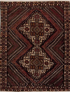 Persian Shahre babak Multicolor Rectangle 5x7 ft Wool Carpet 13350