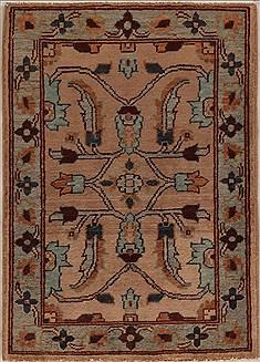 """Pakistani Pishavar  Wool Beige Area Rug  (2'0"""" x 2'11"""") - 251 - 13386"""
