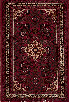 Persian Hamedan Red Rectangle 2x3 ft Wool Carpet 13459