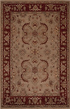 Pakistani Pishavar Grey Rectangle 5x8 ft Wool Carpet 13687