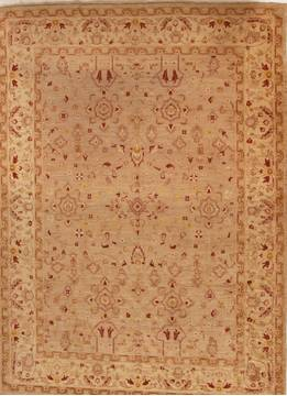 Pakistani Pishavar Beige Rectangle 9x12 ft Wool Carpet 13975
