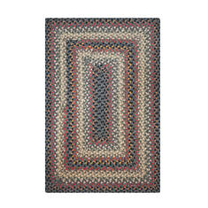 "Homespice Cotton Braided Rug Black 5'0"" X 8'0"" Area Rug 414090 816-130092"