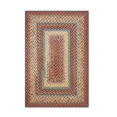 "Homespice Cotton Braided Rug Red 5'0"" X 8'0"" Area Rug 414076 816-130251"