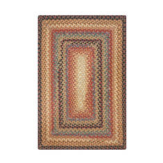 "Homespice Cotton Braided Rug Brown 2'3"" X 3'9"" Area Rug 410191 816-130274"
