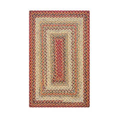 "Homespice Cotton Braided Rug Red 2'3"" X 3'9"" Area Rug 410160 816-130329"