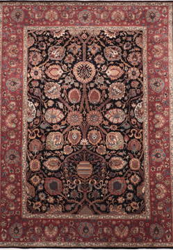 "Jaipur Black Hand Knotted 8'11"" X 12'3""  Area Rug 905-132580"