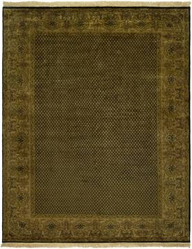 Kalaty AGRA Black Rectangle 6x9 ft Wool Carpet 132607