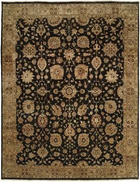 Kalaty ANGORA Black Rectangle 6x9 ft Wool Carpet 132693