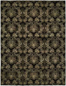 Kalaty GRAMERCY Black Rectangle 4x6 ft Wool and Silkette Carpet 133056