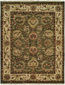Kalaty JAIPURA Green Square 9 ft and Larger Wool Carpet 133236