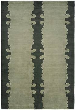 Kalaty PORTFOLIO Green Rectangle 2x3 ft Wool and Silkette Carpet 133693