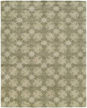 Kalaty PORTFOLIO Green Rectangle 2x3 ft Wool and Silkette Carpet 133723
