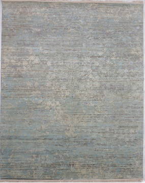 "Jaipur Blue Hand Knotted 8'2"" X 10'2""  Area Rug 905-135674"