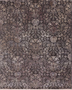 "Jaipur Brown Hand Knotted 8'0"" X 10'0""  Area Rug 905-135675"