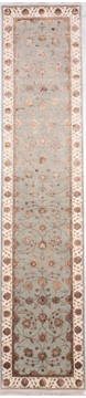"Jaipur Blue Runner Hand Knotted 2'8"" X 12'4""  Area Rug 905-135676"