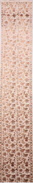 "Jaipur Beige Runner Hand Knotted 2'7"" X 14'2""  Area Rug 905-135683"
