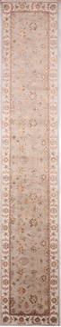 "Jaipur Grey Runner Hand Knotted 2'7"" X 14'2""  Area Rug 905-135687"