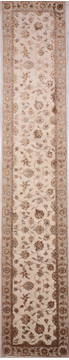 "Jaipur White Runner Hand Knotted 2'7"" X 14'1""  Area Rug 905-135691"