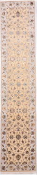 "Jaipur Yellow Runner Hand Knotted 2'7"" X 12'1""  Area Rug 905-135696"