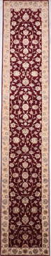 "Jaipur Red Runner Hand Knotted 2'8"" X 14'1""  Area Rug 905-135703"