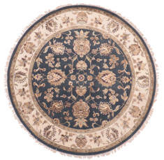 "Jaipur Blue Round Hand Knotted 6'2"" X 6'2""  Area Rug 905-135713"