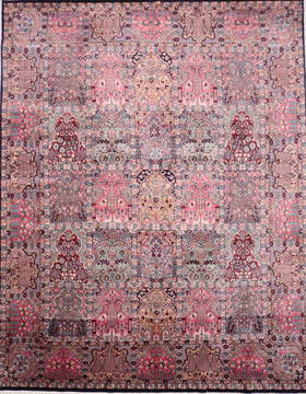 "Hamedan Multicolor Hand Knotted 8'1"" X 10'2""  Area Rug 905-135725"