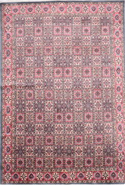 "Hamedan Grey Hand Knotted 6'2"" X 9'4""  Area Rug 905-135726"