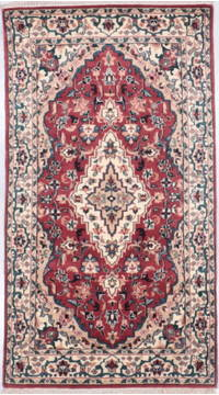 "Mahi Red Hand Knotted 3'1"" X 5'6""  Area Rug 905-135729"