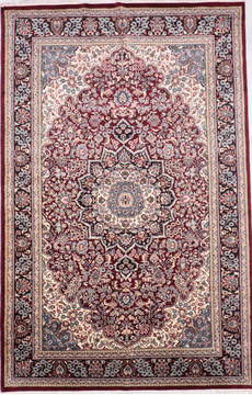 "Nain Red Hand Knotted 6'1"" X 9'4""  Area Rug 905-135742"