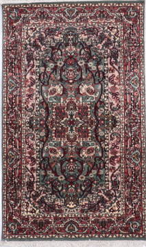 "Tabriz Blue Hand Knotted 3'2"" X 5'3""  Area Rug 905-135752"