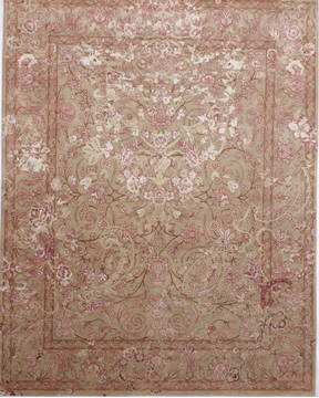 "Jaipur Green Hand Knotted 8'0"" X 10'3""  Area Rug 905-135813"