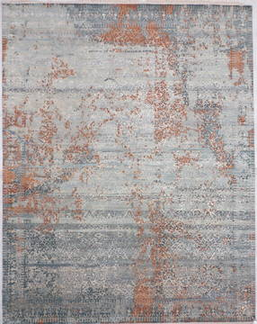 "Jaipur Blue Hand Knotted 8'2"" X 10'4""  Area Rug 905-135826"